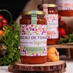 Molho de Tomate Enriquecido com Legumes sabor Manjericão