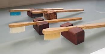 Escova de Dentes de Bambu com Suporte 1