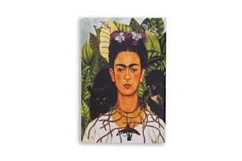 Bullet Journal sem pauta - frida kahlo auto retrato II- Folk books 1