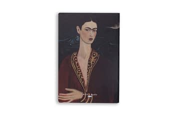 Bullet Journal sem pauta - auto retrato frida kahlo 1 - Folk books 1