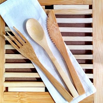 Kit Talheres de Bambu 1