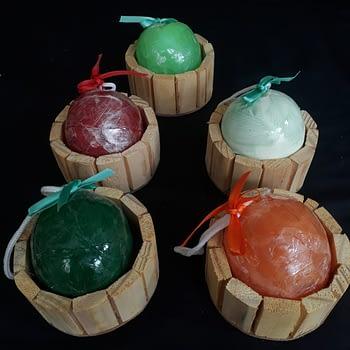 Sabonete Esfera com Esponja 1
