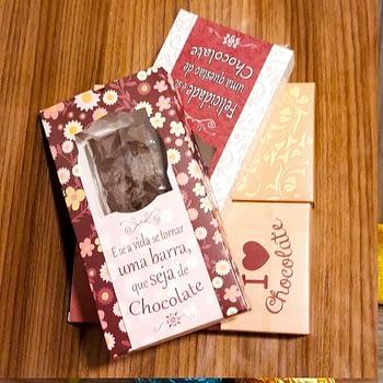 Barra de Chocolate Recheada - com opção de presente 1