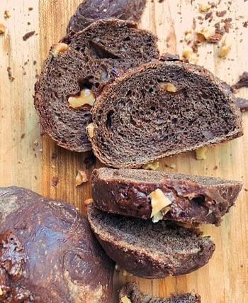 Pão de Cacau & Nozes 03 unidades (150g) 1