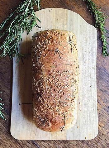 Pão de Linhaça & Alecrim Simples 400g 1