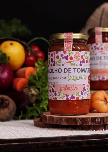 Molho de Tomate Enriquecido com Legumes sabor Palmito